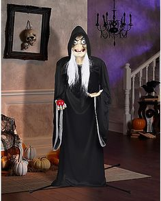 5 Ft Snow White Old Wicked Witch Animatronics Decorations - Disney - Spirithalloween.com