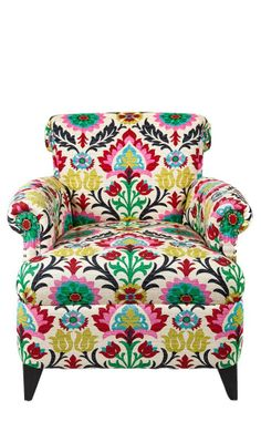 Floral pattern // upholstered chair #furniture_design