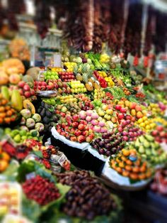 La Boqueria food market, Barcelona. Spain.