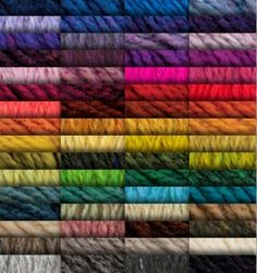 yarn colors for Harrisville Highland - Cones