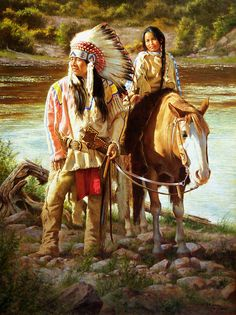 ✿ Tittle: Riding with the Chief ~ Artist Alfredo Rodriguez ✿art Native American Paintings, Native American Pictures, Native American Beauty, Native American Artists, American Indian Art, Indian Paintings, Native American History, American Indians, Art Paintings