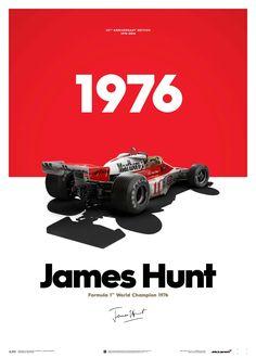 McLaren James Hunt 40th Anniversary World Champion 1976 Limited Edition Poster