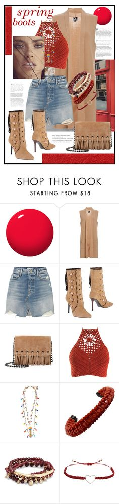 """""""spring boots - new look"""" by mela-at-munich ❤ liked on Polyvore featuring ncLA, GRLFRND, Tamara Mellon, Longchamp, Rosantica, Kendra Scott and SeeMe"""