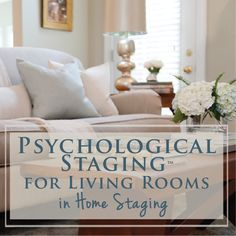 Psychological Staging™ for Living Rooms Instructional Video is part of Living Room Arrangement Mobile Home - The Decorologist's® System for Staging Challenging Living Areas Living Room Colors, My Living Room, Living Room Furniture, Living Room Decor, Bedroom Decor, Fireplace Furniture, Small Living, Home Staging Tips, Cherry Cabinets