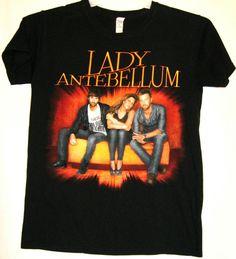 LADY ANTEBELLUM 2010 CONCERT TOUR GRAPHIC BLACK SHIRT! SIZE: ADUT SMALL.