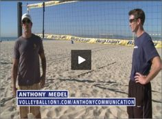 "Good Communication skill between players is very necessary. In this video Anthony talks about some important Communication tips which are very useful for players. Players must decide who covers the middle of the court on serve receive. Players can use words like ""me, me, me – mine, mine, mine"". Part of http://www.volleyball1on1.com/anthony-medel-beach-volleyball-communication/"