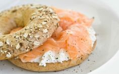New York bagels with salmon