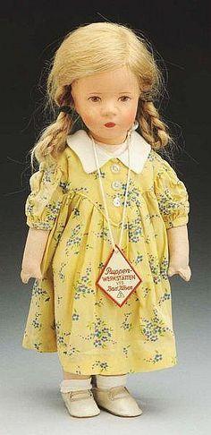"Rare doll IX with unusual label around neck ""Puppen-werkstatten VEB Bad Kosen"", apparently one of the East German models."