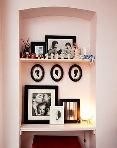 I like people who decorate with good family pictures.  Lots of them.  From Sally Singer's apartment tour.