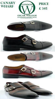 Handcrafted men luxury monk straps ,classic elegant shoes