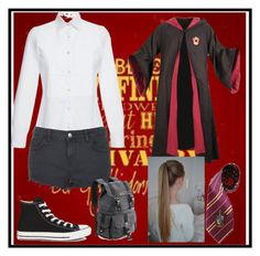 """""""First Day of Hogwarts"""" by books-and-coffee-are-life on Polyvore featuring Stella Jean, Topshop, Converse, Elope and topic"""