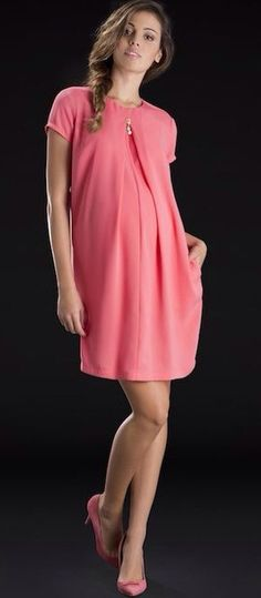 Vestido de maternidad color rosa