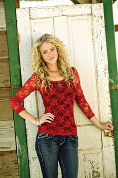 Fire Engine Red Lace Top http://www.nrsworld.com/tops/browse/brand/panhandle-slim