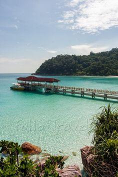 Jetty on tropical island. Perhentian Islands, Malaysia