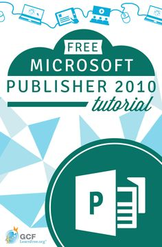 Publisher 2010 is part of the Microsoft Office suite and is used to produce professional-looking publications. With the layouts and templates in Publisher, you can create brochures, newsletters, invitations, business cards, and more. Learn more about how it all works with this free tutorial from @GCFLearnFree.org. #microsoft #publisher #desktoppublishing
