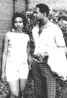 Aretha Franklin and Sam Cooke, who grew up as neighbors and friends in Detroit, unknown source