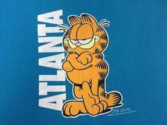 GARFIELD Shirt 90's Vintage/ Jim Davis ATLANTA by sweetVTGtshirt