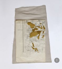 Beautiful embroidered vintage maps