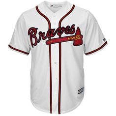 415d36ac019 Majestic Atlanta Braves White Official Cool Base Jersey