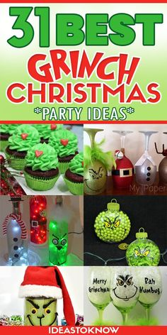Grinch Christmas Party, Grinch Party, Christmas Hanukkah, Christmas Crafts For Gifts, Merry Little Christmas, Christmas Goodies, Christmas Projects, Simple Christmas, All Things Christmas