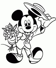 Printable Disney Valentine Colorng Pages With Mickey Mouse