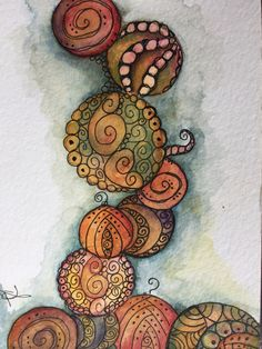 Created on holiday with prima watercolours