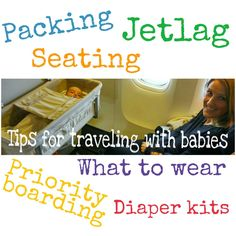 Tips for traveling internationally with a newborn/infant/baby. Air travel with children, packing, jet lag with babies, diaper kits for airplane priority boarding with children :http://www.bravasinthesun.com/tips-for-traveling-internationally-with-a-newborninfantbaby/