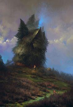 The Witch's Farm, Max Bedulenko on ArtStation at https://www.artstation.com/artwork/the-witch-s-farm
