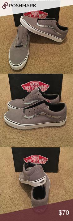 b07431c83 Vans Old Skool Snake Sneakers New in box. Frost Gray /Silver Vans Shoes  Sneakers