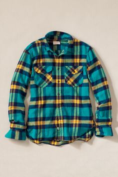 Men's Patch and Flap Flannel Shirt from Lands' End - completely prefer the men's shirt