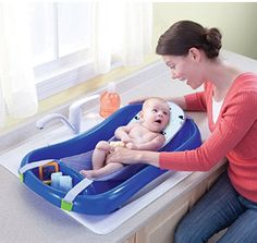 The Sure Comfort Deluxe Newborn to Toddler Tub with Sling is a mommy favorite! In fact, it was voted BEST bathtub in Baby Centers Moms Picks 2014 awards. Once baby grows, they can sit up comfortably and have room to play on the toddler side. Baby Bath Seat, Baby Tub, Bath Seats, Toddler Bath Tub, Toddler Toys, Kids Toys, Cheap Baby Shower Gifts, Baby Registry Checklist, Amazon Baby
