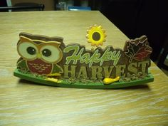 Home Decor Happy Harvest Fall Themed Owl Decoration #Unbranded