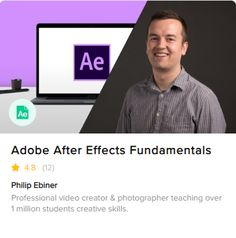 Adobe After Effects CC Online Course. Learn how to improve your videos with professional motion graphics and visual effects with Fiverr's new Adobe Aftet Effects course You Videos, Music Videos, Marketing Videos, Creative Skills, Made Video, After Effects, Visual Effects, Feature Film, Online Courses