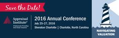 Save the Date email header for the 2016 Annual Conference by the Appraisal Institute.