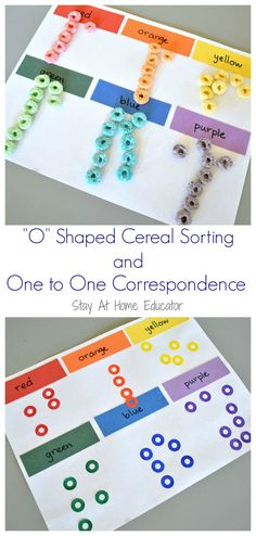 O shaped cereal and one to one correspondence counting activity for preschoolers  - Stay At Home Educator