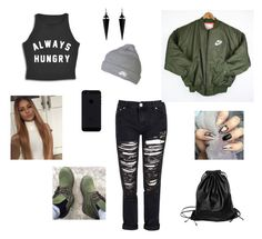 """Untitled #184"" by larauknow ❤ liked on Polyvore featuring Glamorous, Oasis, NIKE, Timberland and Xenab Lone"