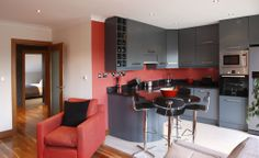 Penthouse - Milltown | RK Designs Living Area, Living Room, Penthouse Apartment, Dublin, Shelving, Ireland, Irish, Custom Design, Flooring