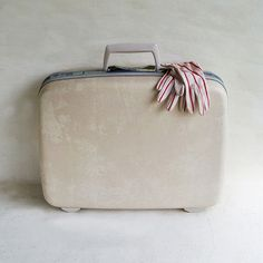 White Mid Century Samsonite Silhouette Suitcase by leapinglemming, $27.95