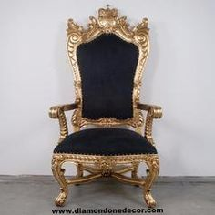 Amazing Pirateu0027s King Chair Gold Trim With Black Suede Throne Chair A Centerpiece  For Any Room. Available In A Variety Of Colors, Fabric, And Trim. Amazing Pictures