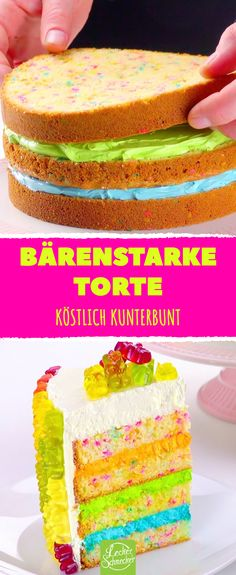 Press gummy bears from the outside to the edge! That will be pretty u-Drücke Gummibärchen von außen an den Rand! Colorful cake with gummy bears. Beef Pies, Mince Pies, Red Wine Gravy, Flaky Pastry, Oreo Cake, Breakfast Buffet, Colorful Cakes, Gummy Bears, Healthy Dessert Recipes