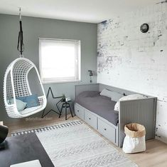 36 Ideas Bedroom Storage Bed Guest Rooms 36 Ideas Bedroom Storage Bed Guest Rooms This imag Daybed Room, Bedroom Loft, Bedroom Storage, Kids Bedroom, Bedroom Decor, Ikea Daybed, Storage Beds, Childrens Bedroom, Storage Cart