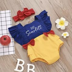Snow White Halloween Costume, Baby Girl Halloween Costumes, Baby Girl Thanksgiving Outfit, Newborn Coming Home Outfit, One Piece Bodysuit, Outfit Sets, Baby Diva, White Clothing, Baby Box
