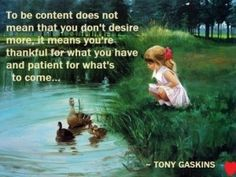 To be content life quotes