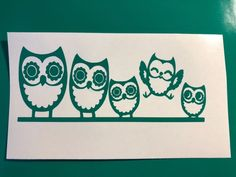 Owl Family Green Vinyl Decal Sticker Window Car Electronics | eBay Motors, Parts & Accessories, Car & Truck Parts | eBay!
