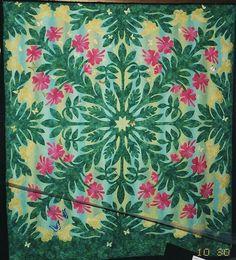 Hawaiian hibiscus quilt