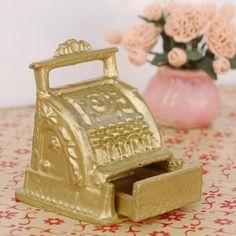 1/12 Mini GOLDEN CASH REGISTER for Dollhouse Shop