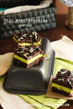 Thin Mint brownies a