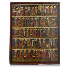 Icono Ruso antiguo Menologio de Octubre XVIII siglo   venta online en HOLYART