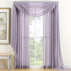 Reverie Sheer Window Panel and Scarf Valance - BedBathandBeyond.com