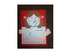 How to brush your teeth writing activity/craft